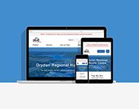 DRHC Website Homepage Redesign Mockup