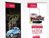 Jubilee General Insurance motor app standees