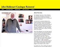 John Baldessari Catalogue Raisonné