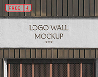 Free Logo Wall Mockup