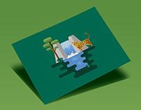 Biomas Argentinos · Postcard Illustration