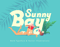 Sunny Bay font and graphics