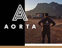 Aorta Events - logotype and brand communication design