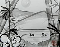 Sumi-e Pond