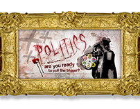 Playing roulette - Political Art