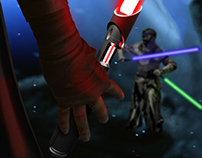 Lightsaber animation play
