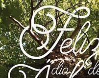 Día Internacional del Árbol - Lettering