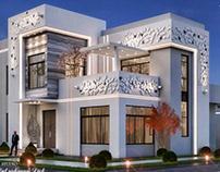 Modern villa with fantasy touches