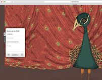 Peacock at WeTransfer