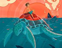 Shipwrecked Illustration Process