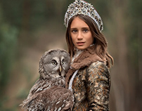 Portrait Photography Princess Owl