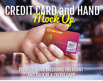 Credit Card and Hand Mock-up