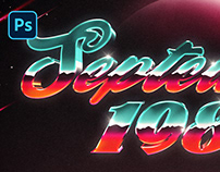 PSD 80S GALAXY TEXT AND LOGO EFFECT VOL.2