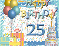 Happy 25th Birthday eCard