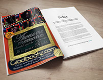 full page advert design  for Gradbookz.