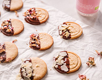 Food styling and photography: Almond rose water cookies