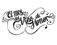 """Lettering para aniversario de """"el vino de honor"""""""