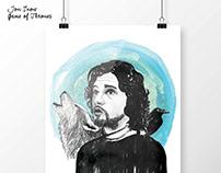 GOT Fan art, illustration work, digital poster prints