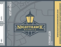 Nighthawk Brewery Crowler Labels