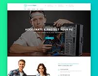 Computer Repair - Homepage demo concept