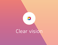 LP redesign for the Clear Vision photo editing service.