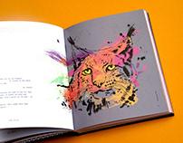 Havas Lynx: PRIDE book ink/paint illustrations