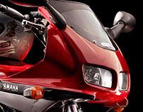 Yamaha. Motorcycle shooting