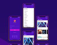 UX/UI design of IOS Music App