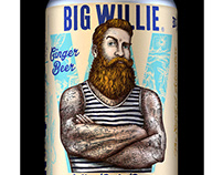 Big Willie Packaging Labels Illustrated by Steven Noble