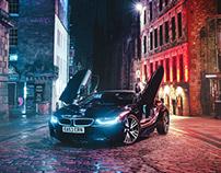 BMW i8 Roadster - Edinburgh Night Drive