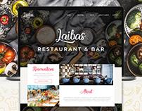 Laiba's Restaurant & Bar Landing Page