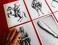 Naipes - Ilustraciones con grafito