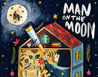 Illustrations for John Lewis - Man On The Moon