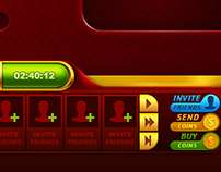 Game screen for online casino