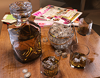 Whiskey set with backet for ice