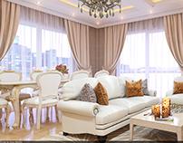 Apartment in Heydar Aliyev prospect.Livingroom.