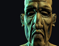 Old man 3d character.