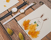 Kate Spade NY |for 2O16 Spring Watch|合作邀約影像与插畫繪製