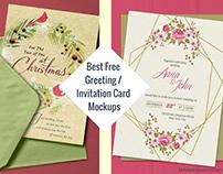 Best Free Greeting / Invitation Card Mockups 2020