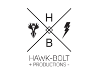 Hawk-bolt Productions branding