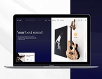 Design concept website for guitar's music store