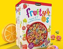 Metro Sweet Cereals packaging illustration