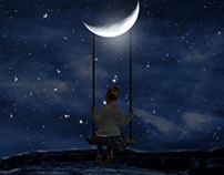 Girl on Swing Photo Manipulation Video