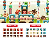 """Platformer Game Tile Set """"Candyland"""""""