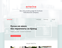 Landing page UI - Artarina