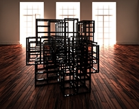 Powder coated aluminum grid, black