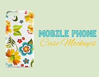 30+ Customizable Mobile Phone Case PSD Mockup Templates