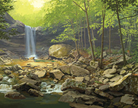 Ohiopyle Visitor Center | Cucumber Falls Mural