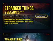 """Web design of """"Stanger Things"""" TV series site."""