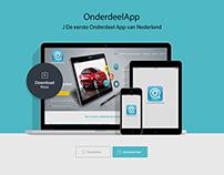"""""""Onderdeel App"""" website"""